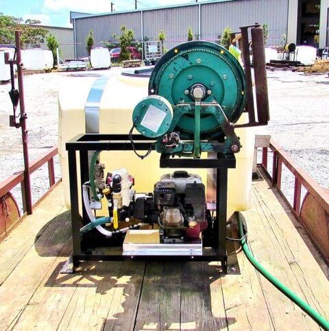 Graham spray equipment on truck