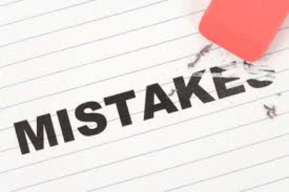 Eraser erasing mistakes
